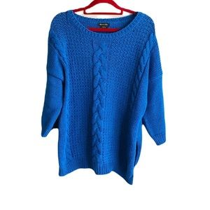 🎀 Massimo Dutti Medium Size Made In Italy Blue Sweater Top